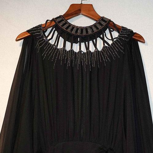 Đầm dài xẻ cao,đính đá 2002BD