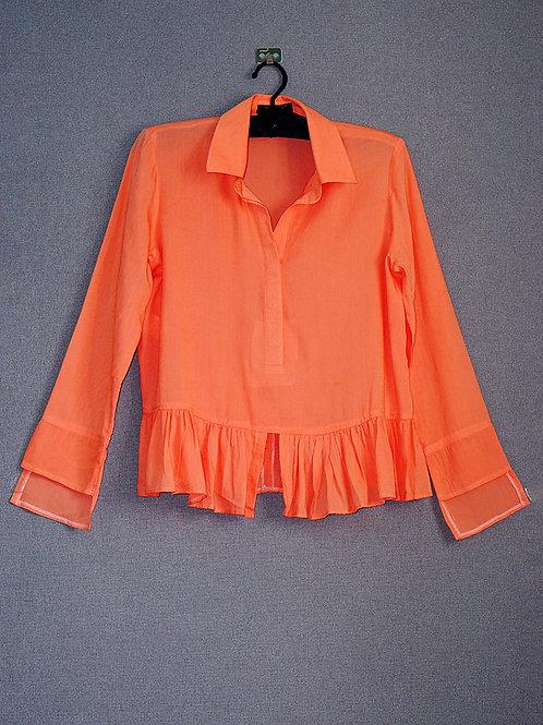 Mulberry silk orange shirt