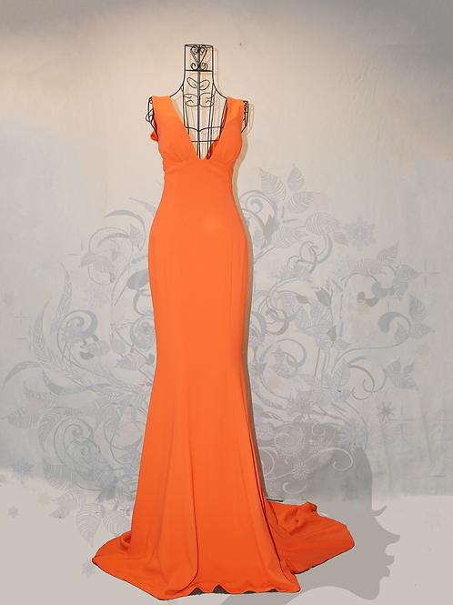 Đầm dạ hội đuôi cá màu cam 2002ODC