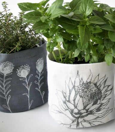 Hand Screen Printed Soft Pots