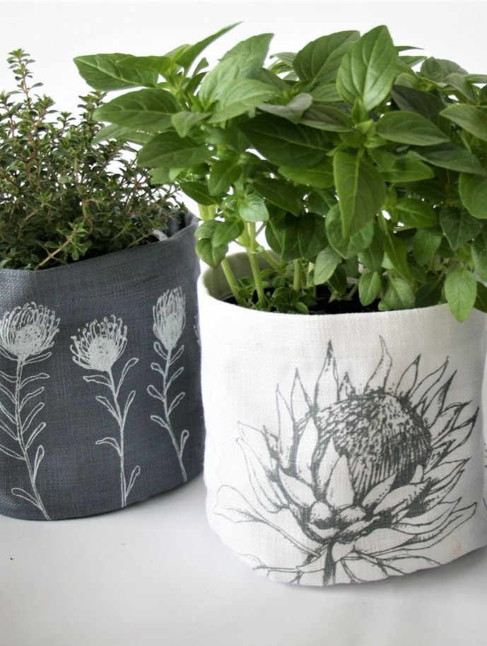 Hand Screen Printed Soft Pots
