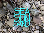 Sea Sun Sand Wooden Words Sign