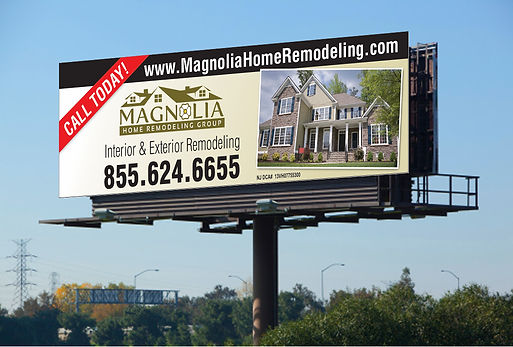 billboard signage indoor outdoor magnolia home remodeling group retractable banners flex flags window graphics signs