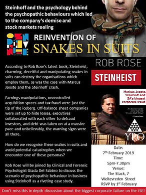 Reinvention of snakes in suits with Rob Rose and Giada Del Fabbro