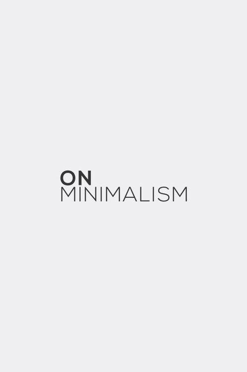 MINIMAL projektas / MINIMAL LIVING project