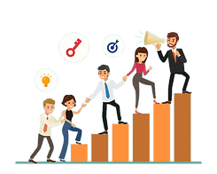 business-people-cartoon-climbing-up-grap