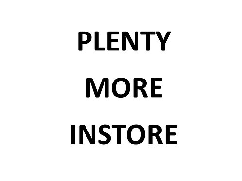 Shop instore for all available products