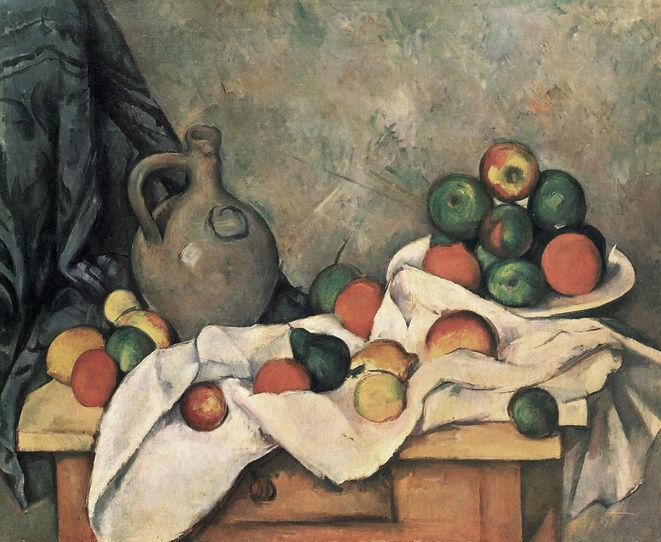 'Rideau, Cruchon et Compotier', por Paul Cézanne (1894; óleo sobre tela; 60 x 73 cm).jpg