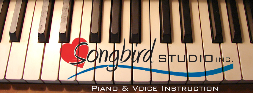 songbird on piano