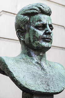 A bust of former President of the United