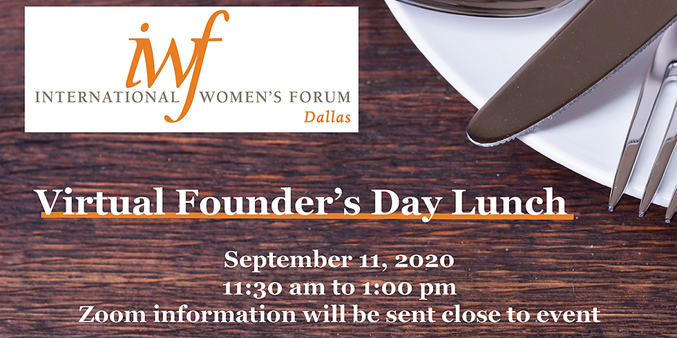 Virtual Founder's Day Lunch