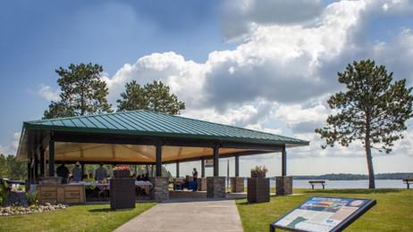 Picnic Pavilion in Island Lake Park