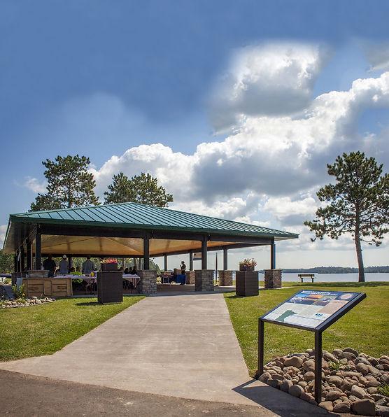 Island Lake Park Pavilion - credit MN Po