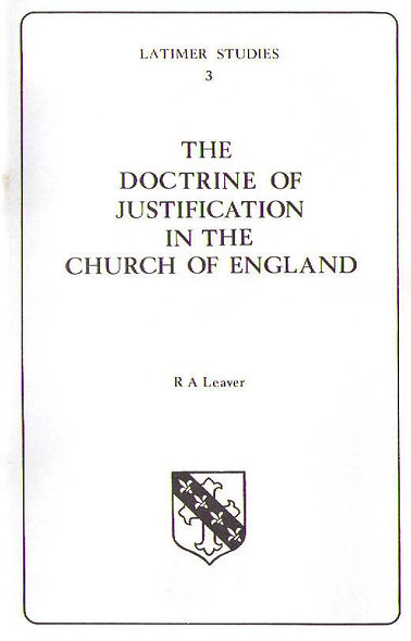 The Doctrine of Justification in the Church of England