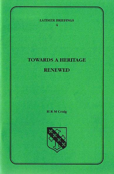 Towards a Heritage Renewed