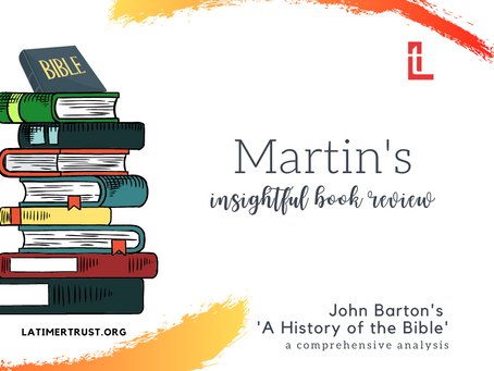 John Barton's  A History of the Bible – A review.