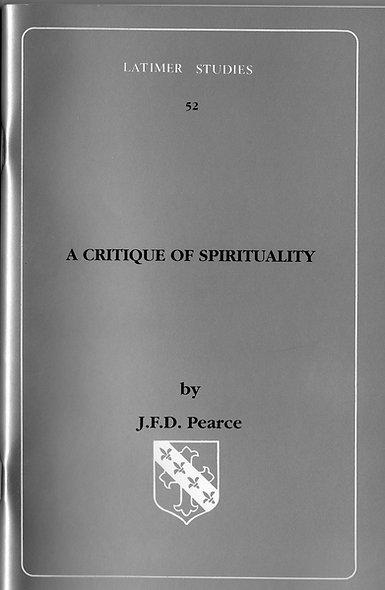 A Critique of Spirituality