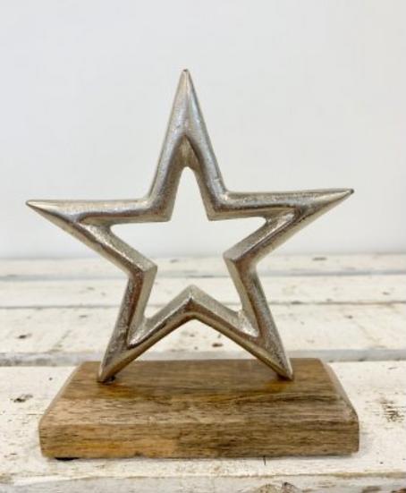 Wooden Star Block 16cm