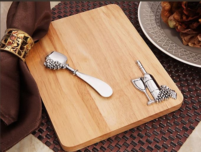 Rustic Cheese Board Set - Wine Bottle Design