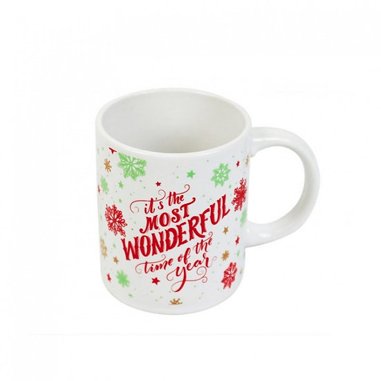 Wonderful Time Christmas Mug