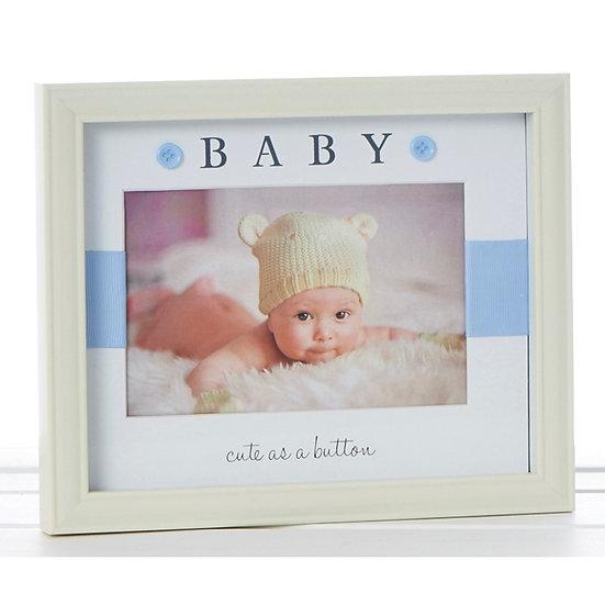 Baby Boy Button Frame