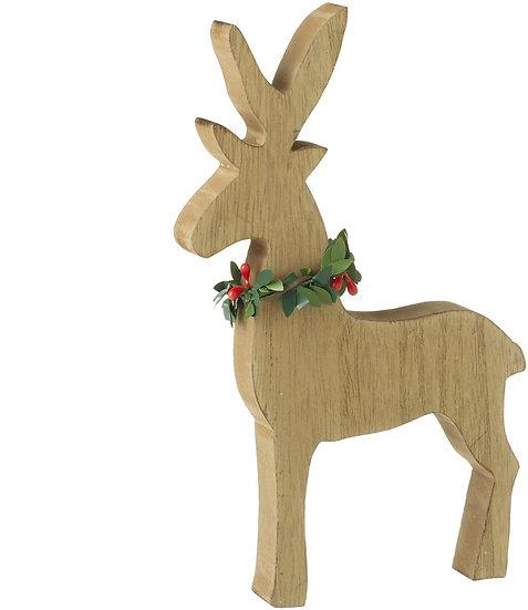 Wooden Festive Reindeer