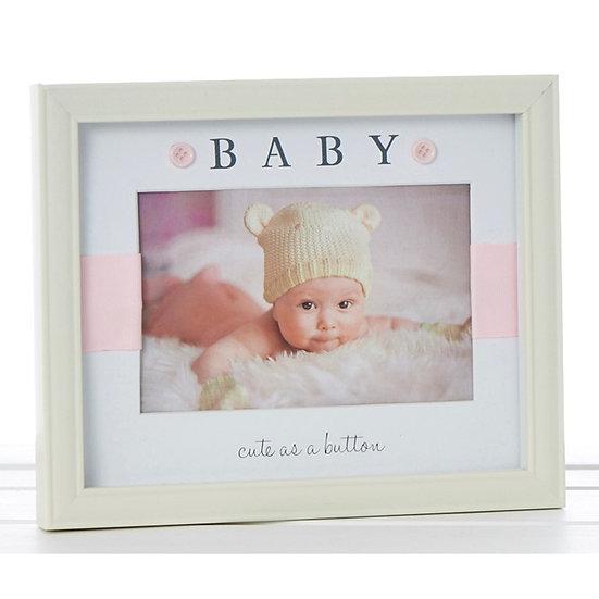 Baby Girl Button Frame