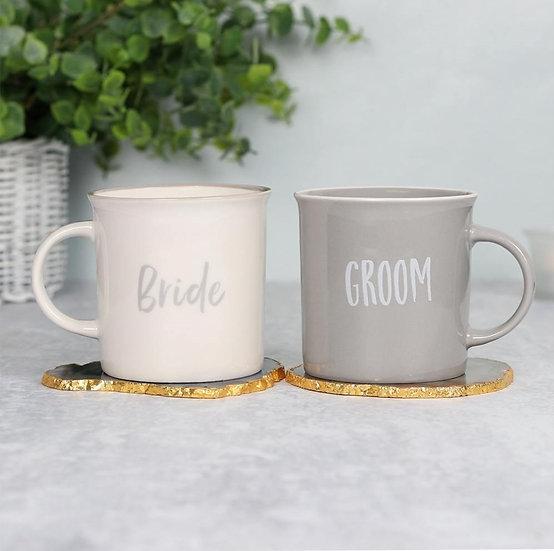 Bride & Groom Wedding Mugs