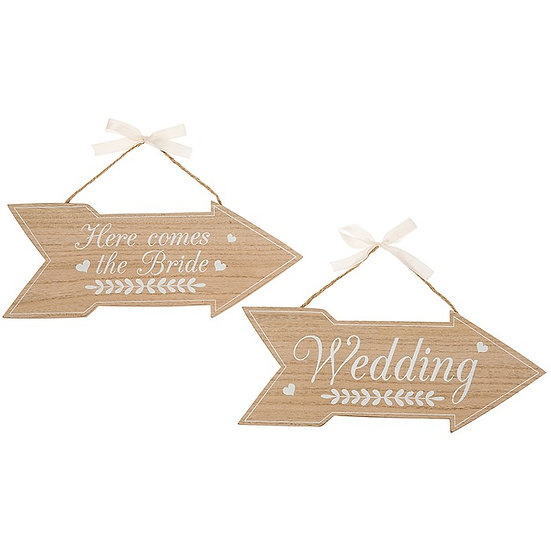 Wedding Arrow Sign 2 Pack
