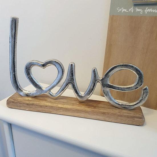 Love Decorative Sign