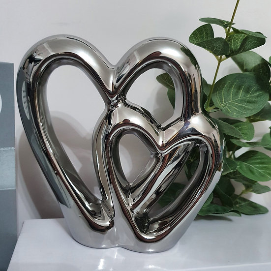 Double Heart Ornament 15cm