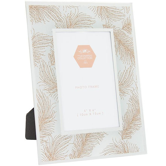 Rose Gold Feather Frame 4x6