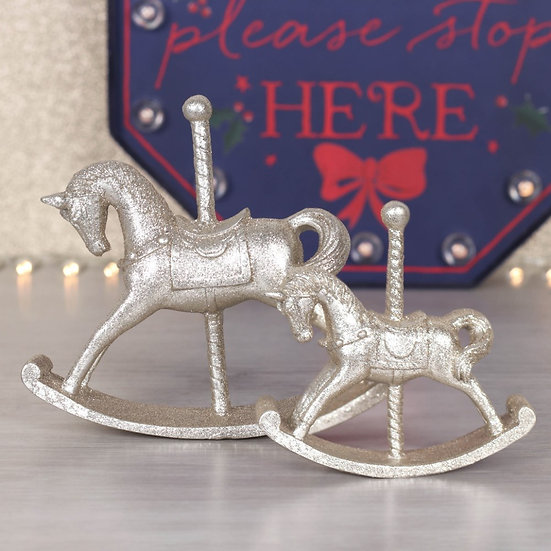 Rocking Horse Ornament Duo