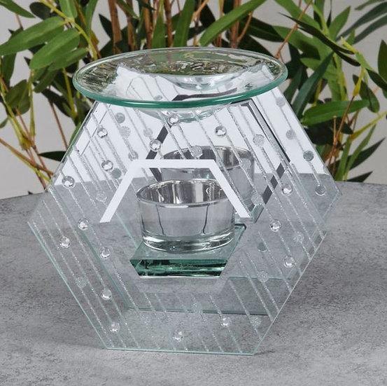 Raindrop Hex Glass Burner