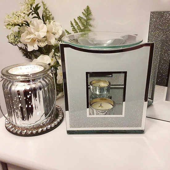 Mirrored Glitter Tealight Burner