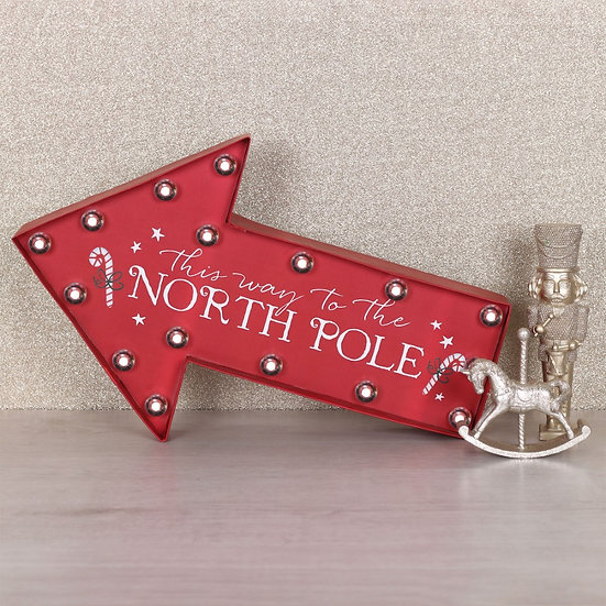 North Pole LED Arrow Sign