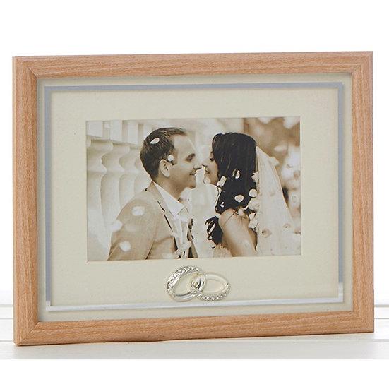 Wooden Wedding Rings Frame