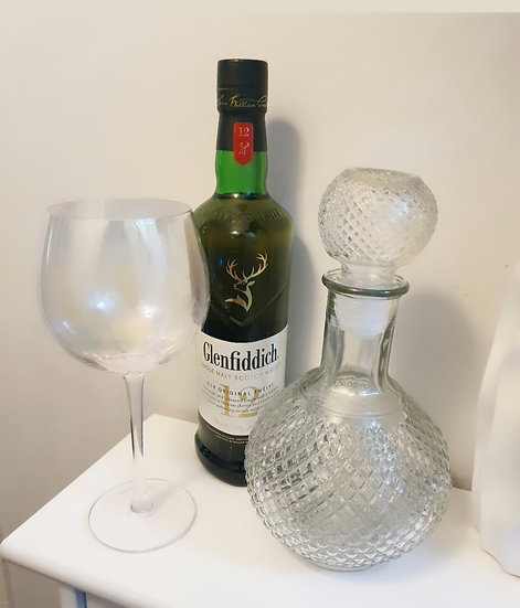 Loch Glass Decanter 25cm