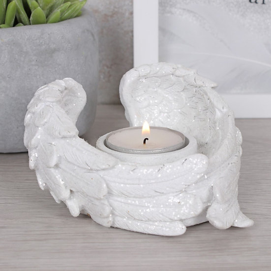 Glitter Angel Wings Candle Holder