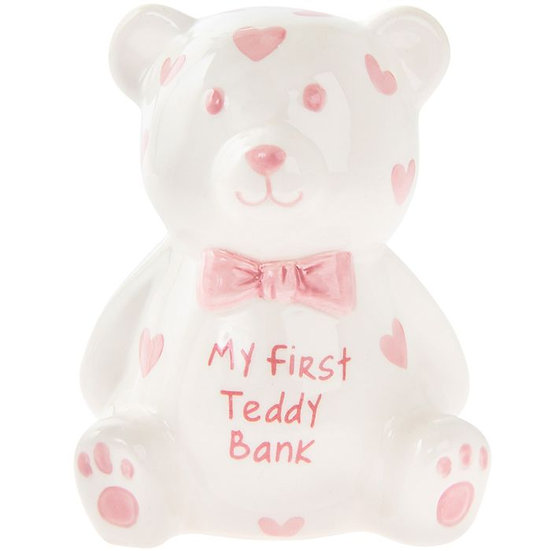 My First Teddy Bank - 2 Colours