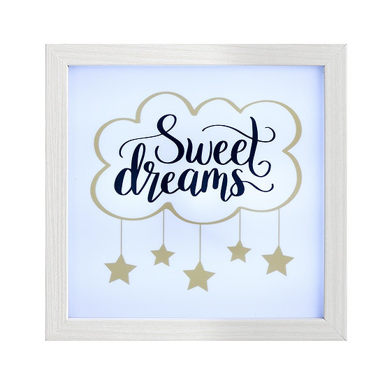 Sweet Dreams LED Box Frame