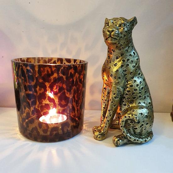 Golden Leopard Ornament