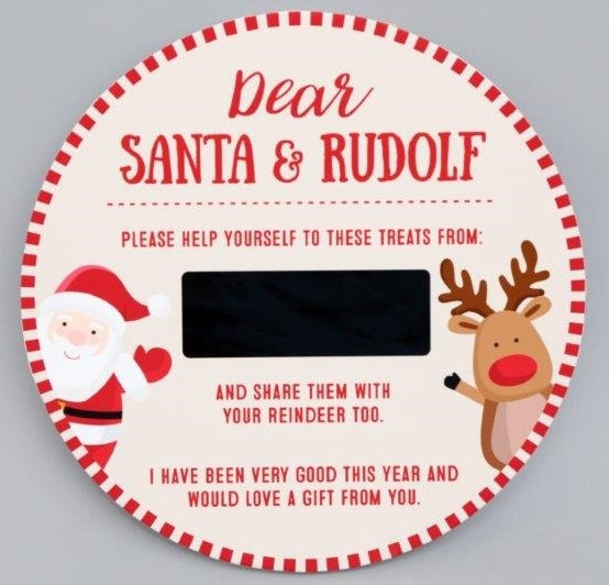 Wooden Christmas Eve Treat Plate