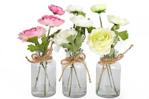 Floral Glass Vase Set