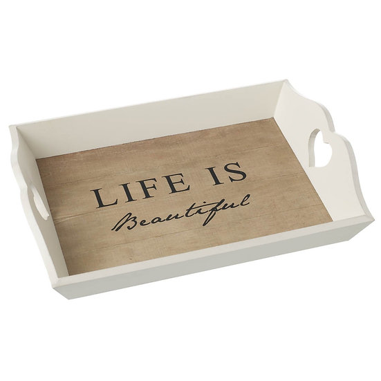 Life is Beautiful Large Tray