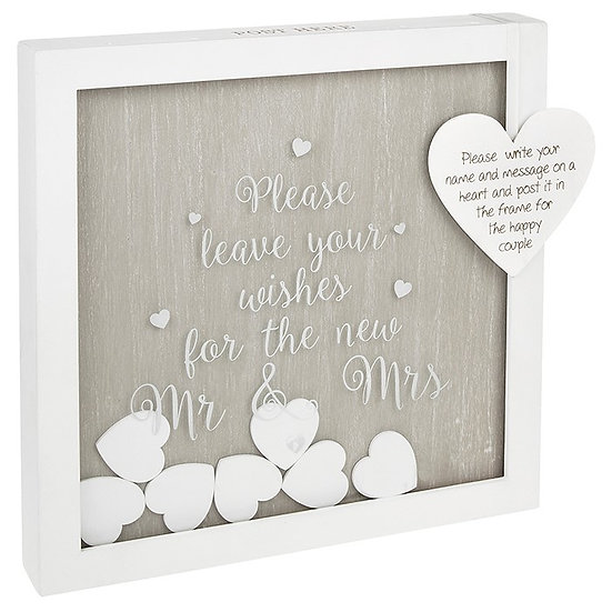 Mr and Mrs Heart Drop Box Gift