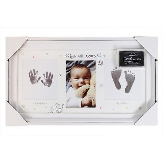Made With Love Baby Print Frame