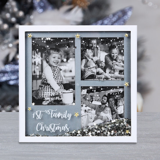 First Family Christmas Photo Frame