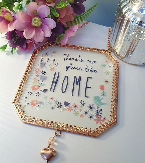 No Place Like Home Hanging Wall Plaque