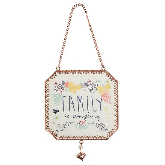 Family Is Everything Hanging Wall Plaque